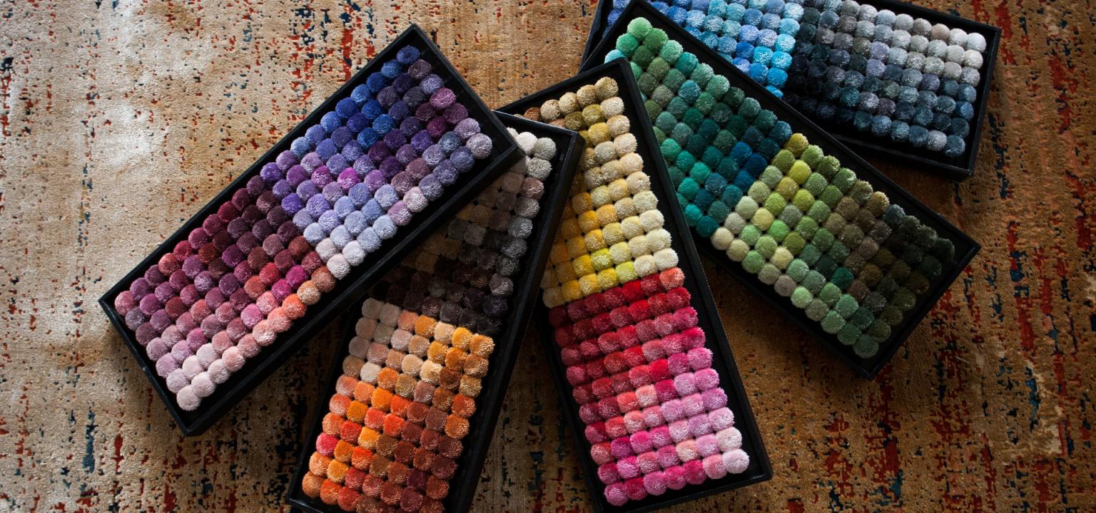 Teppiche selbst gestalten anhand von Farbmuster